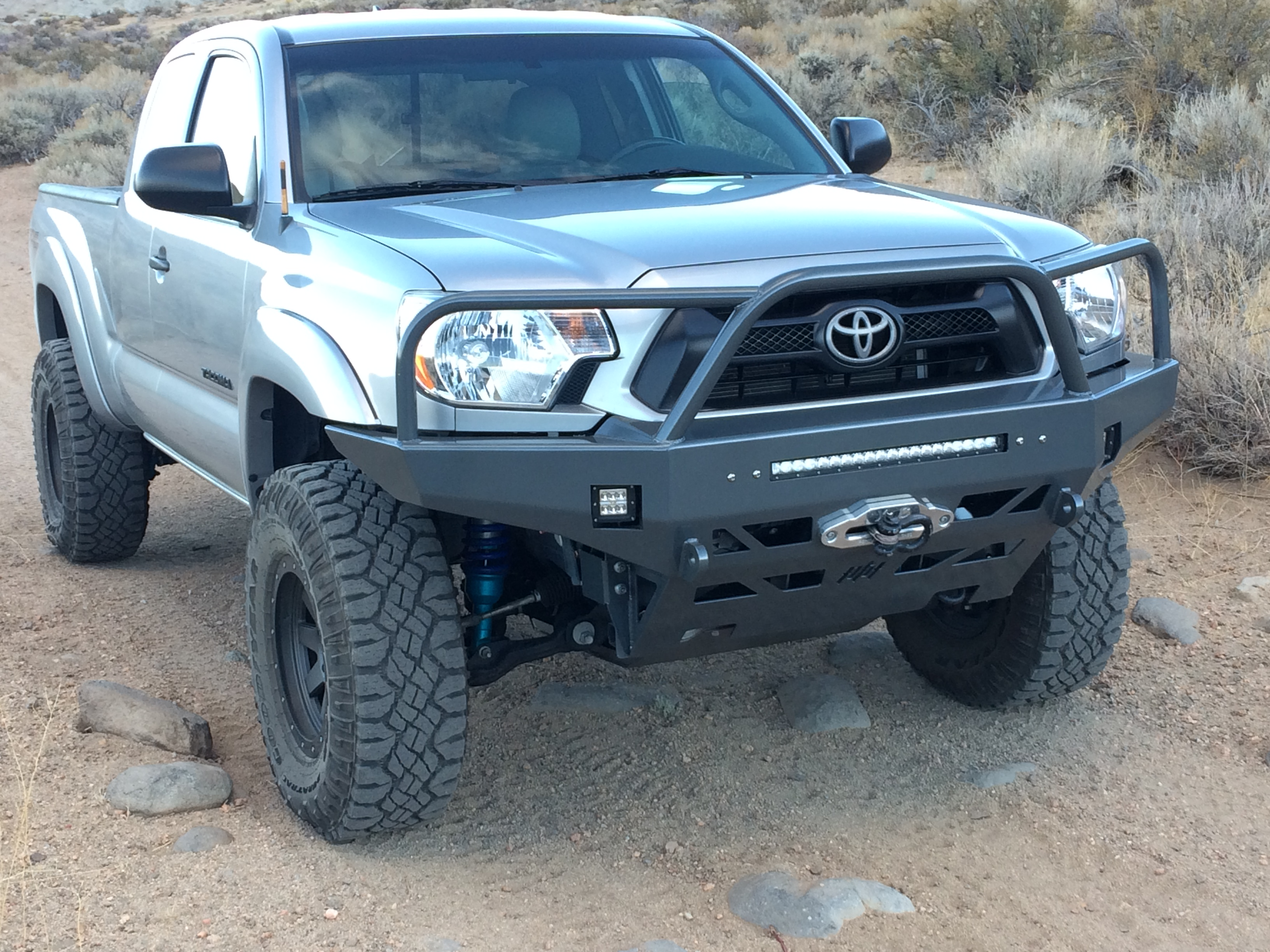 Toyota Tacoma Front Bumper >> 2012 2015 Toyota Tacoma Front Bumper At The Helm Fabrication
